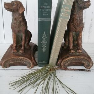 Pair Of Decorative Dog Bookends